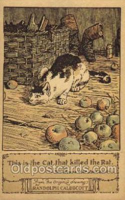 nur001172 - Artist Randolph Caldecott Nursery Rhyme Postcard Post Card Old Vintage Antique