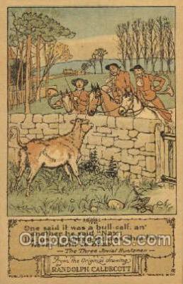 nur001176 - Artist Randolph Caldecott Nursery Rhyme Postcard Post Card Old Vintage Antique