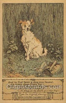 nur001183 - Artist Randolph Caldecott Nursery Rhyme Postcard Post Card Old Vintage Antique