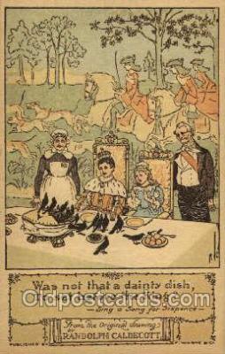 nur001184 - Artist Randolph Caldecott Nursery Rhyme Postcard Post Card Old Vintage Antique