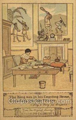 nur001186 - Artist Randolph Caldecott Nursery Rhyme Postcard Post Card Old Vintage Antique