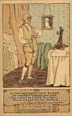 nur001190 - Artist Randolph Caldecott Nursery Rhyme Postcard Post Card Old Vintage Antique