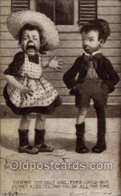 nur001193 - Your the only girl I ever loved Nursery Rhyme Postcard Post Card Old Vintage Antique