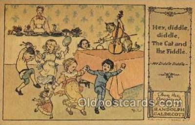 nur001204 - Artist Randolph Caldecott Nursery Rhyme Postcard Post Card Old Vintage Antique
