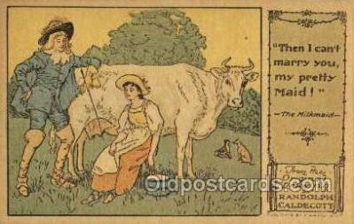 nur001216 - Artist Randolph Caldecott Nursery Rhyme Postcard Post Card Old Vintage Antique