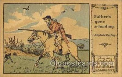 nur001218 - Artist Randolph Caldecott Nursery Rhyme Postcard Post Card Old Vintage Antique