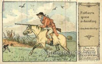 nur001226 - Father's gone a hunting Original Drawings By Randolph Caldecott, Published by F. Warne & Co.