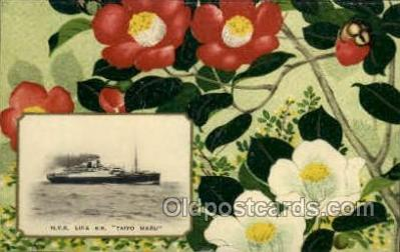 nyk001015 - S.S. Taiyo Maru Nippon Yusen Kaisha Ship, NYK Shipping Postcard Postcards