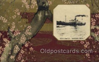 nyk001017 - S.S. Hakusan Maru Nippon Yusen Kaisha Ship, NYK Shipping Postcard Postcards