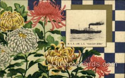 nyk001027 - S.S. Hakusan Maru Nippon Yusen Kaisha Ship, NYK Shipping Postcard Postcards