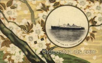 nyk001042 - S.S. Tatsuta Maru Nippon Yusen Kaisha Ship, NYK Shipping Postcard Postcards