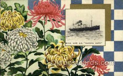 nyk001043 - S.S. Haruna Maru Nippon Yusen Kaisha Ship, NYK Shipping Postcard Postcards