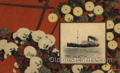 nyk001056 - S.S. Kashima Maru Nippon Yusen Kaisha Ship, NYK Shipping Postcard Postcards
