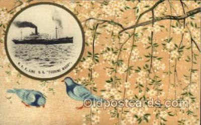 nyk001081 - S.S. Fushimi Maru Nippon Yusen Kaisha Ship, NYK Shipping Postcard Postcards