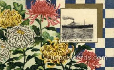 nyk001112 - S.S. Suwa Maru Nippon Yusen Kaisha Ship, NYK Shipping Postcard Postcards