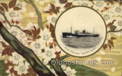 nyk001113 - S.S. Hikawa Maru Nippon Yusen Kaisha Ship, NYK Shipping Postcard Postcards