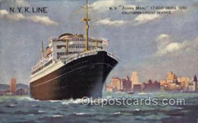 nyk001188 - S.S. Asama Maru Nippon Yusen Kaisha Ship, NYK Shipping Postcard Postcards