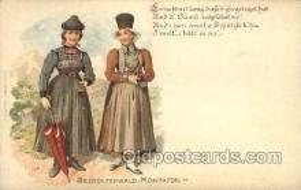 nat001014 - Bregenzerwald-montafon Native Costume Postcard Postcards