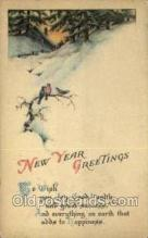 new001090 - New Year Post Cards Postcard