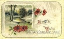 new001138 - New Years Eve Postcard Post Cards Old Vintage Antique