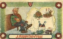 new001140 - New Years Eve Postcard Post Cards Old Vintage Antique