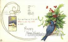 new001143 - New Years Eve Postcard Post Cards Old Vintage Antique