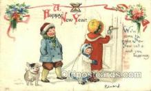 new001144 - New Years Eve Postcard Post Cards Old Vintage Antique