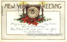new001145 - Whitney Made New Years Eve Postcard Post Cards Old Vintage Antique