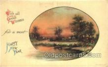 new001146 - New Years Eve Postcard Post Cards Old Vintage Antique