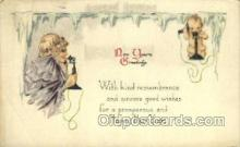 new001148 - New Years Eve Postcard Post Cards Old Vintage Antique