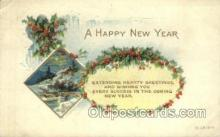 new001149 - New Years Eve Postcard Post Cards Old Vintage Antique