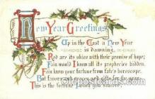 new001150 - New Years Eve Postcard Post Cards Old Vintage Antique