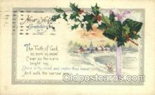 new001151 - New Years Eve Postcard Post Cards Old Vintage Antique