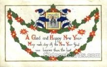 new001152 - New Years Eve Postcard Post Cards Old Vintage Antique