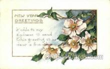 new001154 - New Years Eve Postcard Post Cards Old Vintage Antique