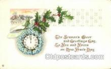new001157 - New Years Eve Postcard Post Cards Old Vintage Antique