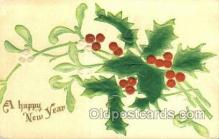 new001158 - New Years Eve Postcard Post Cards Old Vintage Antique