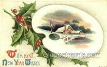 new001159 - New Years Eve Postcard Post Cards Old Vintage Antique