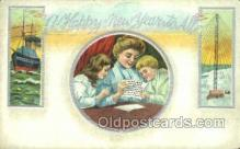 new001160 - New Years Eve Postcard Post Cards Old Vintage Antique