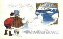 new001166 - New Years Eve Postcard Post Cards Old Vintage Antique