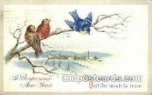 new001176 - New Years Eve Postcard Post Cards Old Vintage Antique