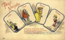 new001184 - New Years Eve Postcard Post Cards Old Vintage Antique
