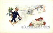 new001190 - New Years Eve Postcard Post Cards Old Vintage Antique