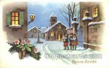 new001204 - New Years Eve Postcard Post Cards Old Vintage Antique