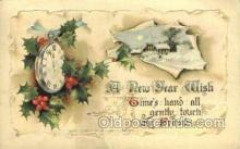 new001205 - New Years Eve Postcard Post Cards Old Vintage Antique