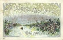 new001206 - New Years Eve Postcard Post Cards Old Vintage Antique