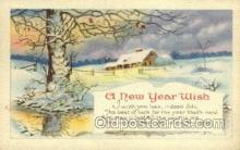 new001216 - New Years Eve Postcard Post Cards Old Vintage Antique