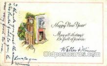 new001221 - New Years Eve Postcard Post Cards Old Vintage Antique