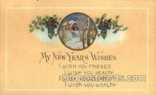 new001229 - New Years Eve Postcard Post Cards Old Vintage Antique