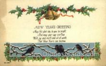 new001231 - New Years Eve Postcard Post Cards Old Vintage Antique
